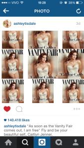 """""""Assim que a Vanity Fair sair, eu estou livre."""" Voe e seja seu lindo eu , Caitlyn Jenner."""